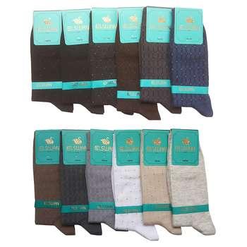 جوراب مردانه ال سون طرح مسکو کد PH24 مجموعه 12 عددی