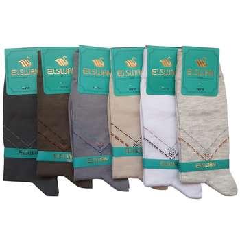 جوراب مردانه ال سون طرح برلین کد PH26 مجموعه 6 عددی