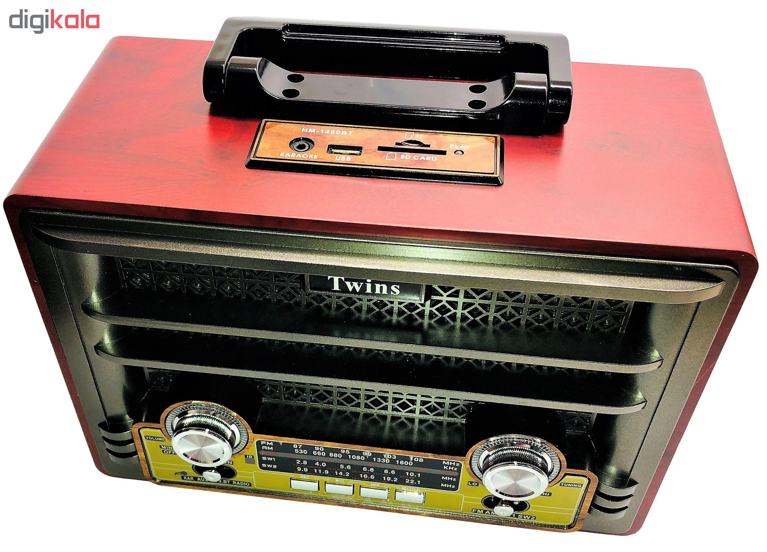 خرید اینترنتی رادیو توینس مدل 1480BT اورجینال