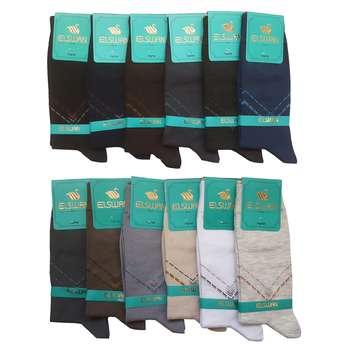 جوراب مردانه ال سون طرح برلین کد PH27 مجموعه 12 عددی