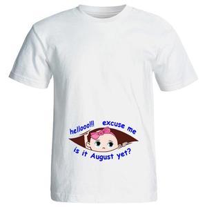 تی شرت بارداری طرح hello کد 3973