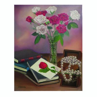Photo of تابلو نقاشی رنگ روغن صندوق مروارید