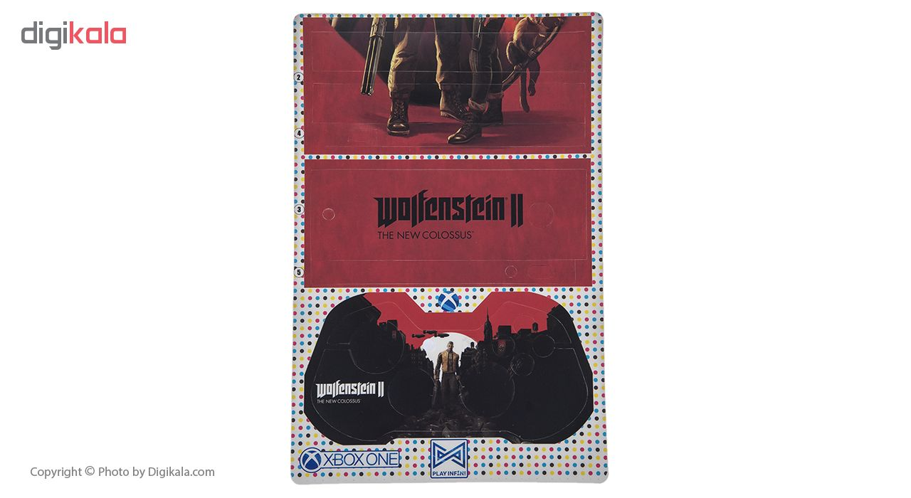 برچسب ایکس باکس وان اس پلی اینفینی مدل Wolfenstein 2