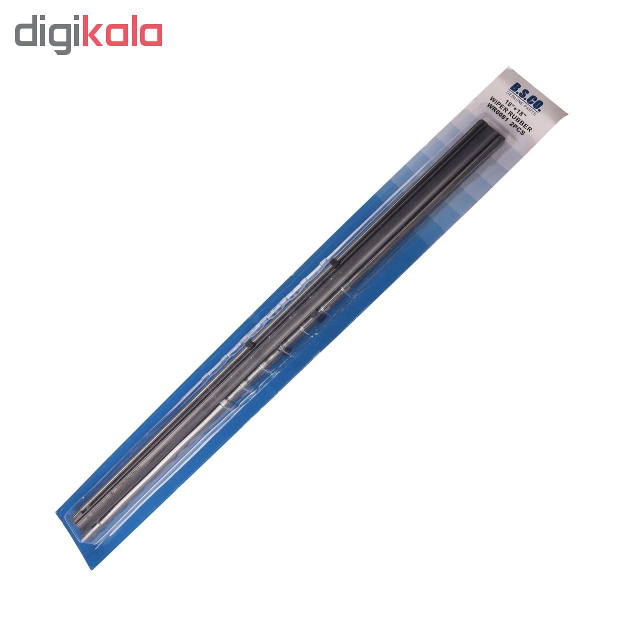 لاستیک تیغه برف پاکن بی.اس.کو مدل S4 مناسب برای پراید main 1 1