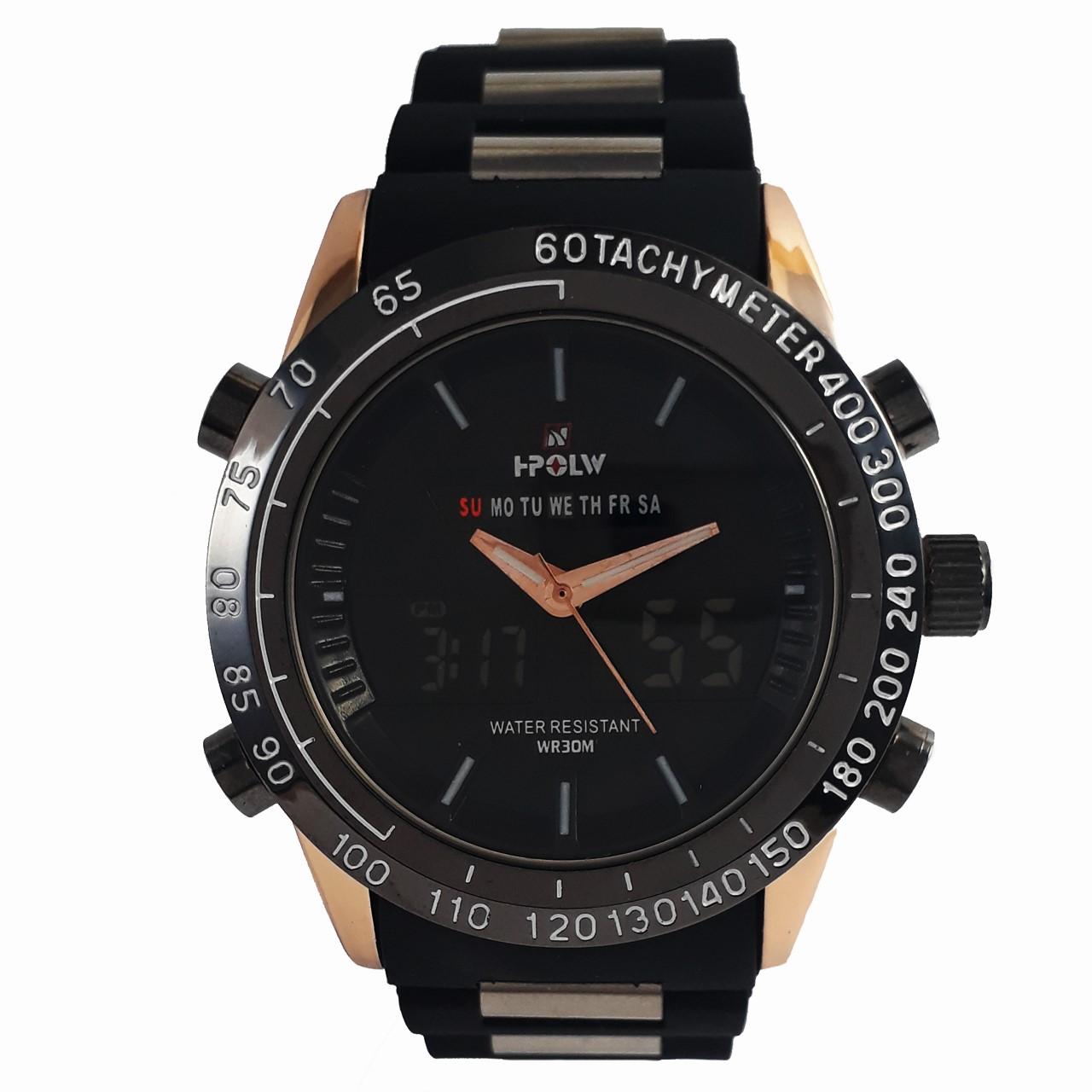 ساعت مچی عقربه ای مردانه اچ-پولو مدل FS1519