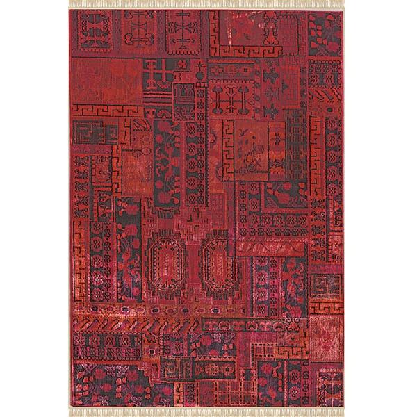 فرش ماشینی فرش ابریشمی کرامتیان طرح آرتینه کد 5947