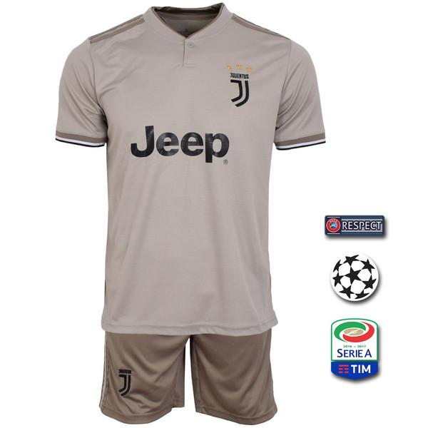 پیراهن و شورت ورزشی مردانه طرح یوونتوس مدل Away18/19 به همراه تگ