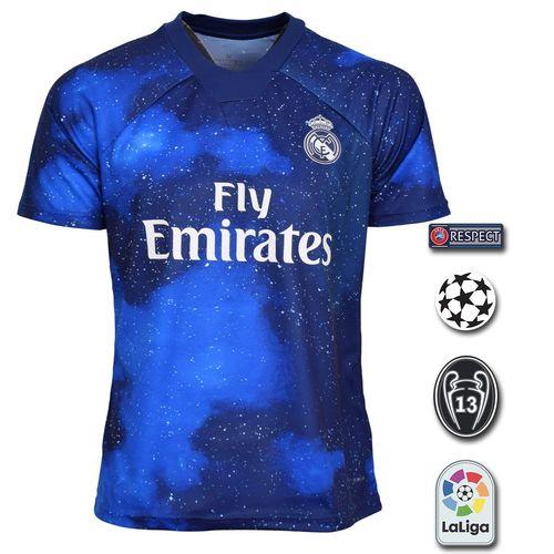 پیراهن ورزشی مردانه طرح رئال مادرید مدل 19-18