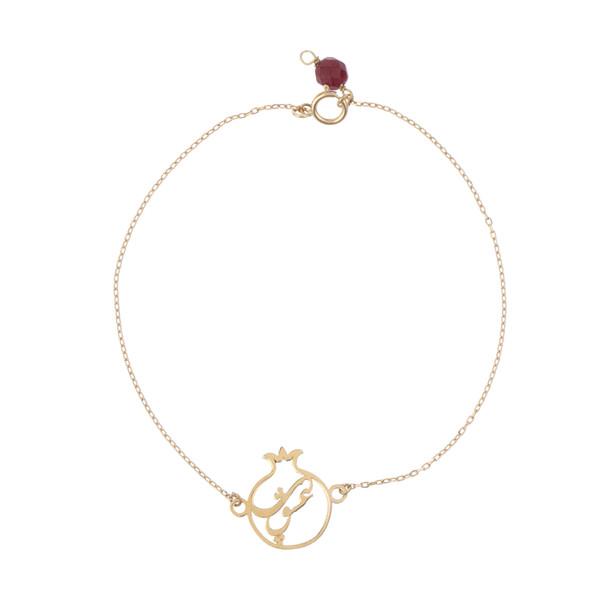 دستبند طلا 18 عیار زنانه نیوانی مدل B1003