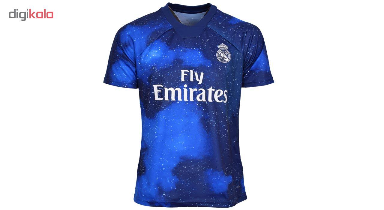 پیراهن ورزشی مردانه طرح رئال مادرید مدل 19-18  غیر اصل