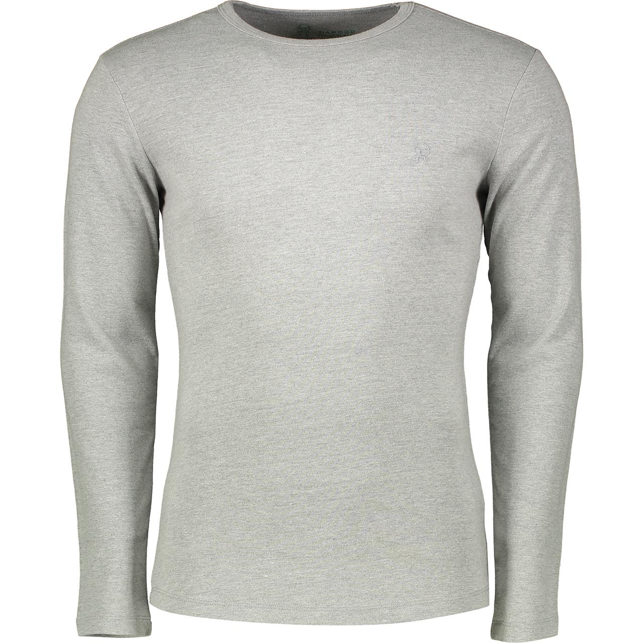 تی شرت مردانه سیاوود مدل CNECK-LS-B 32805 W0008