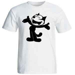 تی شرت آستین کوتاه شین دیزاین طرح فلیکس گربه کد 4354