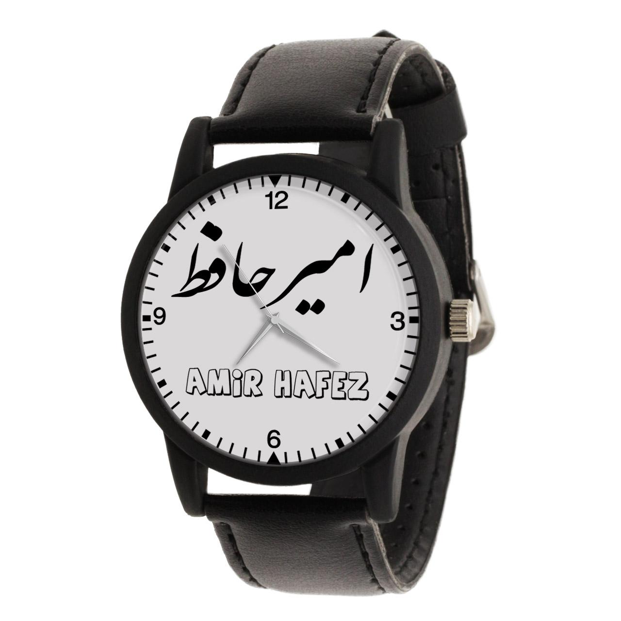 قیمت                      ساعت مچی عقربه ای مردانه طرح امیر حافظ کد LF3007