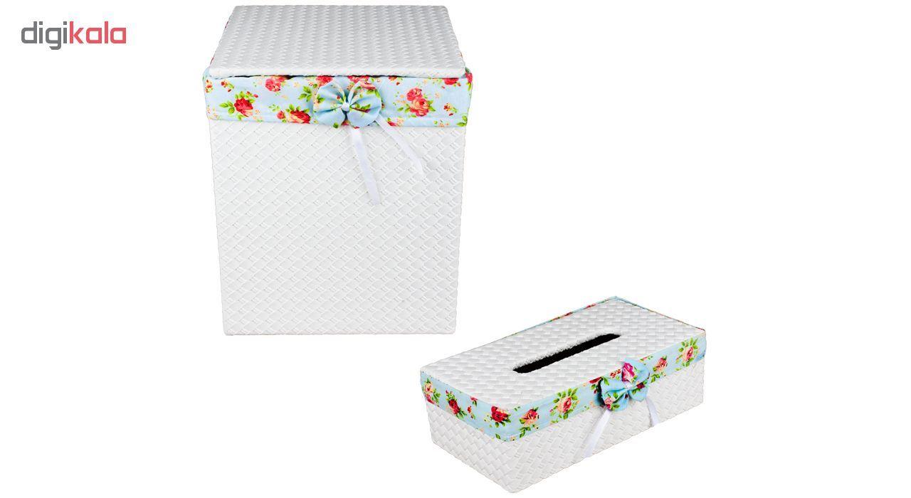 ست سطل و جا دستمال کاغذی کد 601 main 1 1