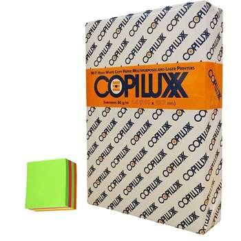 کاغذ کپی لوکس سایز A4 مدل پریمیوم 80 گرمی بسته 500 عددی به همراه کاغذ یادداشت رنگی
