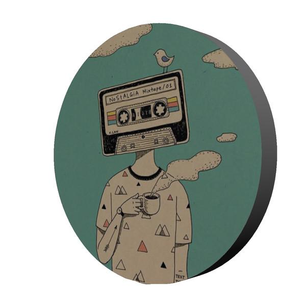 استیکر طرح موزیک مدل Nostalgia Mixtape