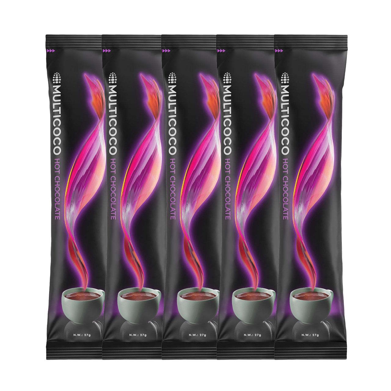 هات چاکلت مولتی کوکو - 27 گرم بسته 5 عددی