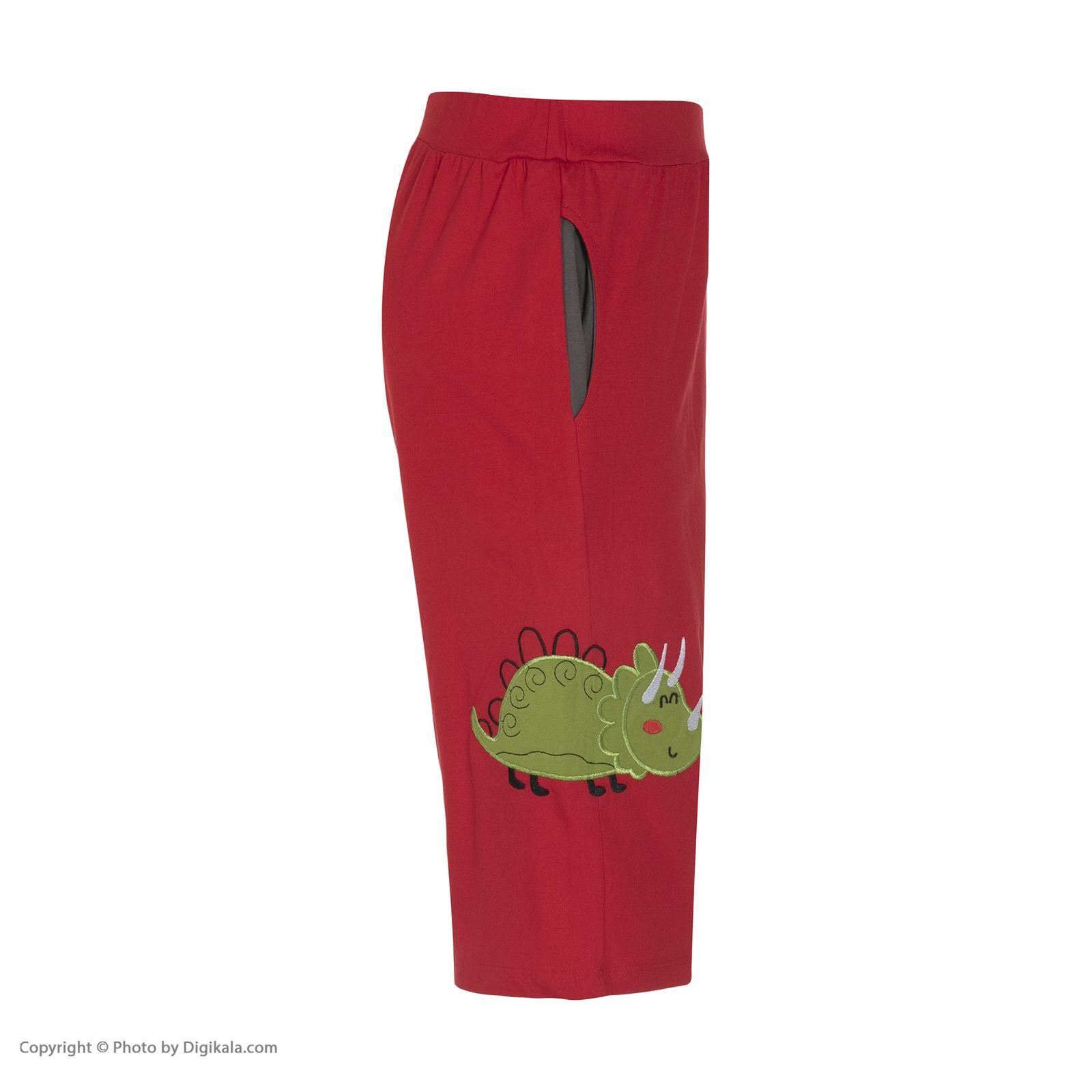 ست تی شرت و شلوارک راحتی مردانه مادر مدل 2041110-74 -  - 10