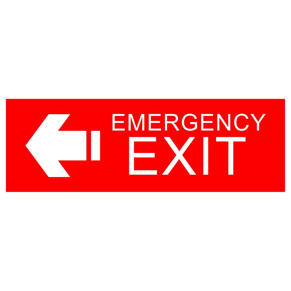 برچسب ایمنی خروج اضطراری کد08 بسته دو عددی