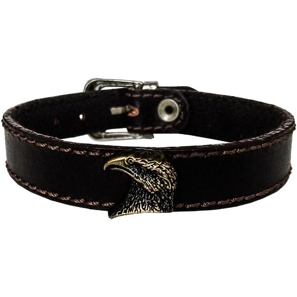 دستبند چرم وارک طرح عقاب مدل هوفر کد rb195