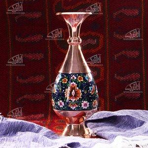 گلدان مس و پرداز   طرح شاه عباسی  مدل 1015700029