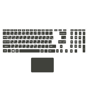 استیکر لپ تاپ صالسو آرت مدل mjr 1045 به همراه برچسب حروف فارسی کیبورد