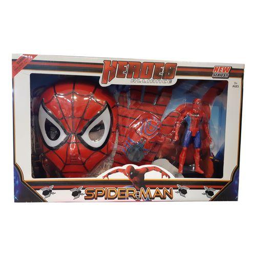 ست ماسک دستکش و آدمک اسپایدرمن مدل 3028 Spiderman