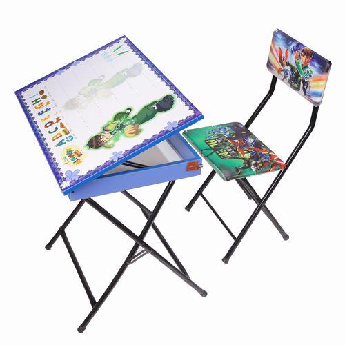 میز تحریر باکسدار و صندلی طرح بن تن (وایت بردی،تاشو،تنظیم شونده ارتفاع)