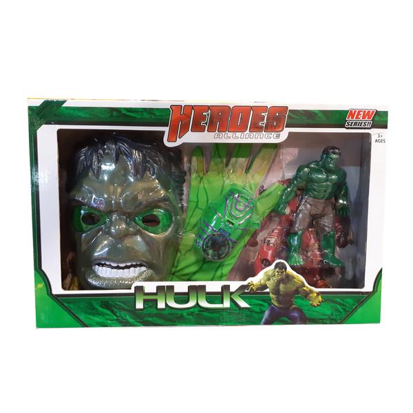 ست ماسک دستکش و آدمک هالک مدل 3028 Hulk