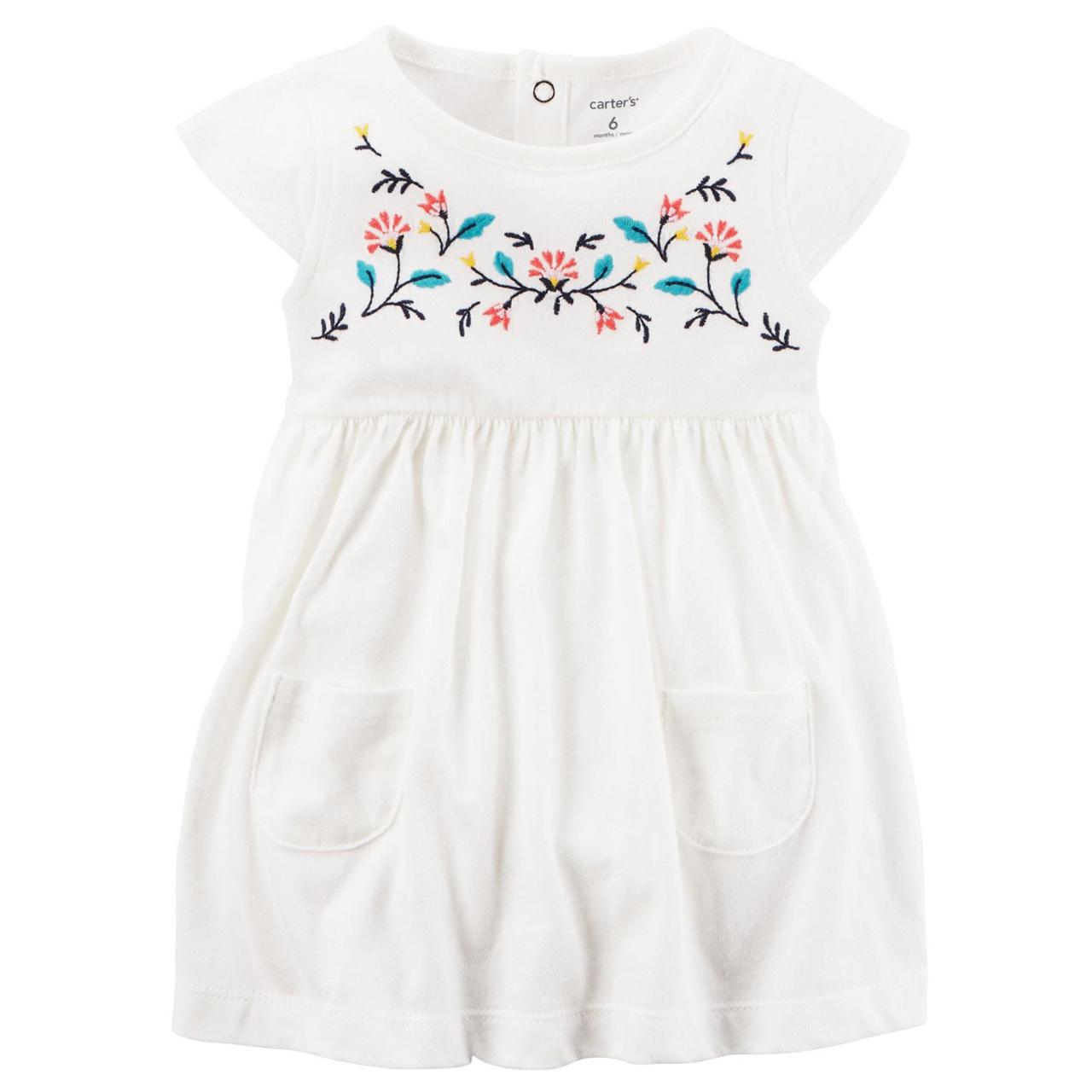 پیراهن نوزادی دخترانه کارترز مدل 838
