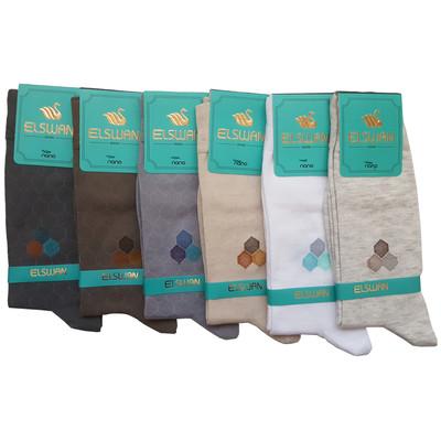 تصویر جوراب مردانه ال سون طرح لانه زنبوری کد PH29 مجموعه 6 عددی