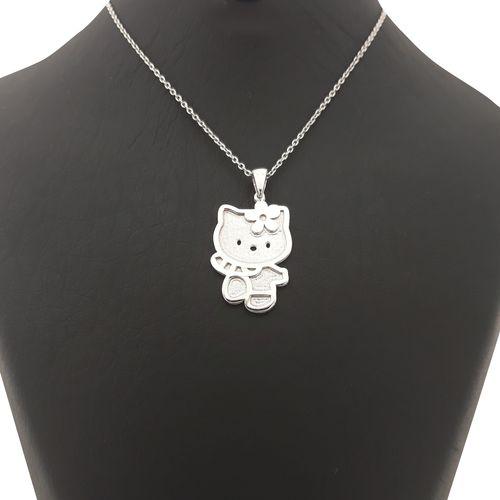 گردنبند نقره کودک طرح کیتی کد FL 161