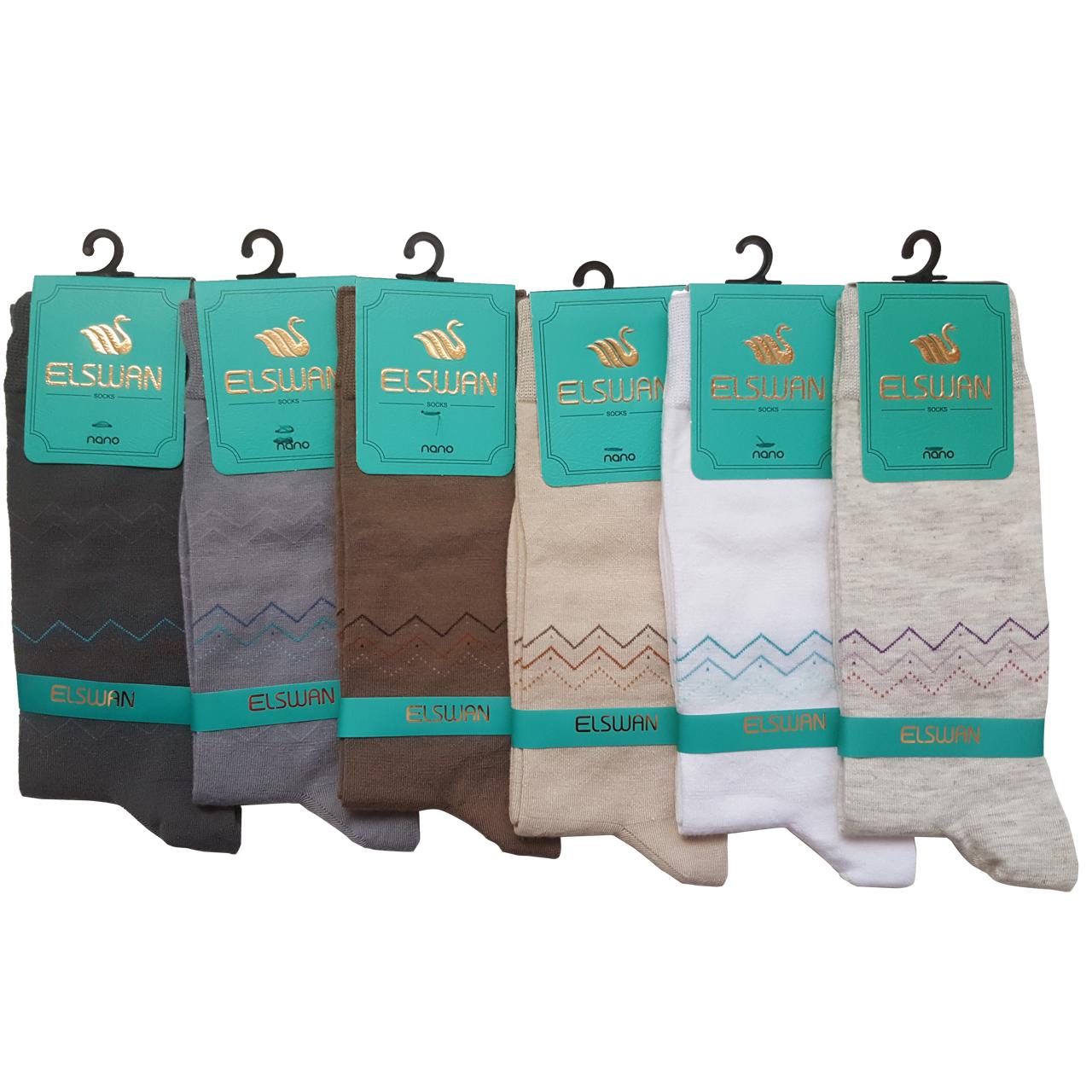جوراب مردانه ال سون طرح راین کد PH32 مجموعه 6 عددی