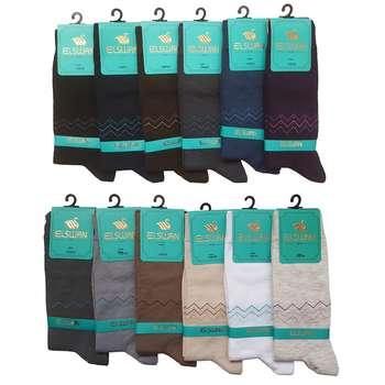 جوراب مردانه ال سون طرح راین کد PH33 مجموعه 12 عددی