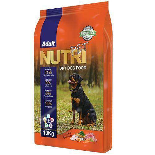 غذای خشک پروبیوتیک سگ نوتری پت مدل  Adult 21Percent مقدار 10 کیلوگرم
