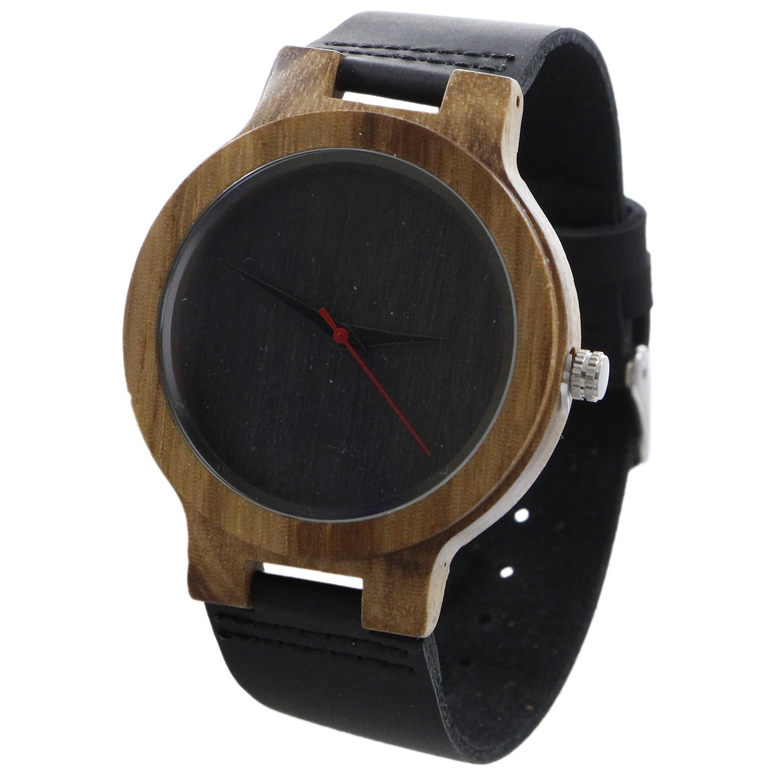 ساعت مچی چوبی عقربه ای - کد BMK14