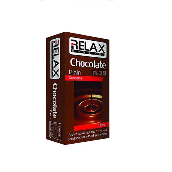 کاندوم ریلکس مدل CHOCOLATE PLAIN کد R39 بسته 12عددی