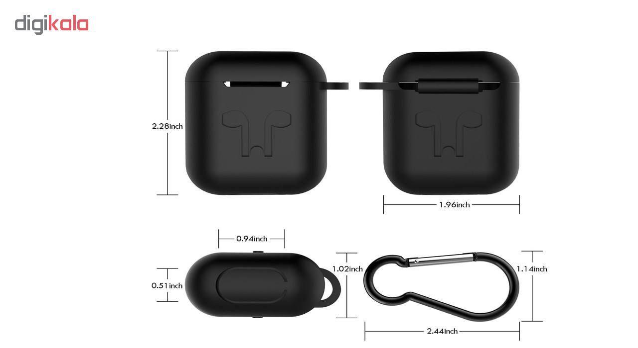 کاور محافظ سیلیکونی مدل A.JMEI مناسب برای کیس Apple AirPods main 1 19