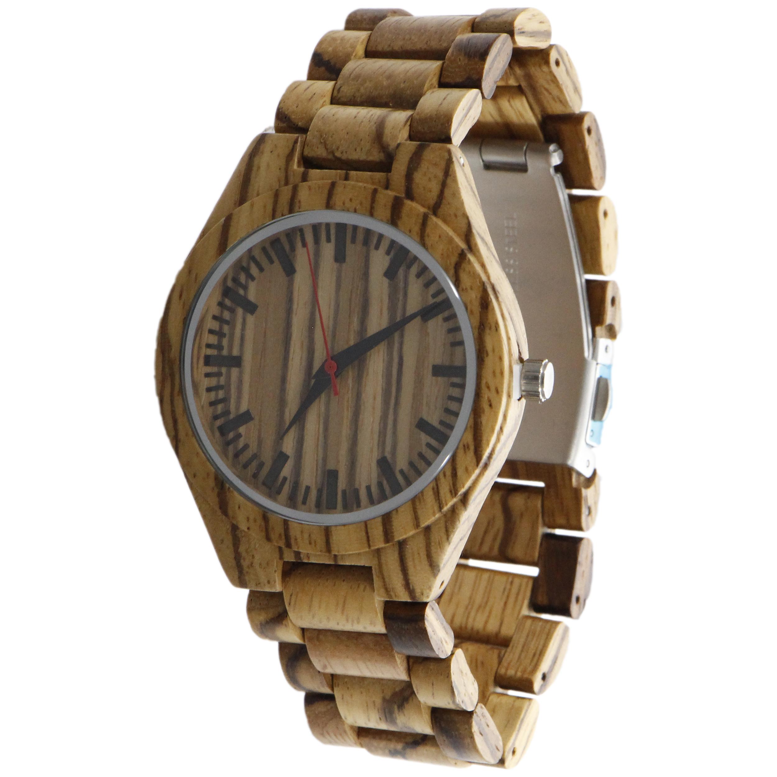 ساعت مچی چوبی عقربه ای - کد BMK22