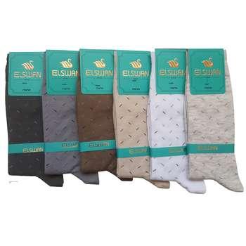 جوراب مردانه ال سون طرح برنابه او کد PH38 مجموعه 6 عددی