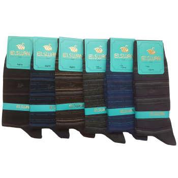 جوراب مردانه ال سون طرح رینگی کد PH40 مجموعه 6 عددی