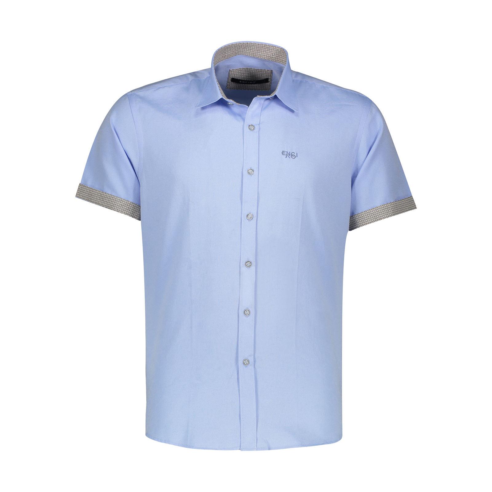 پیراهن آستین کوتاه مردانه ان سی نو مدل جرارد رنگ آبی -  - 1