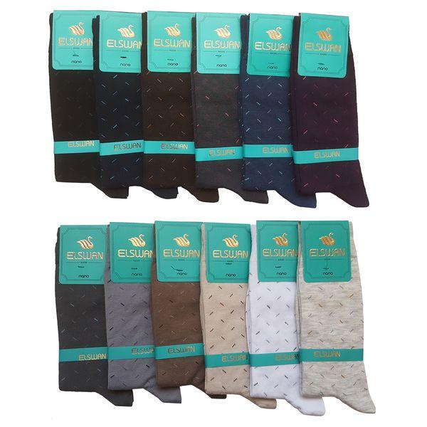 جوراب مردانه ال سون طرح برنابه او کد PH39 مجموعه 12 عددی