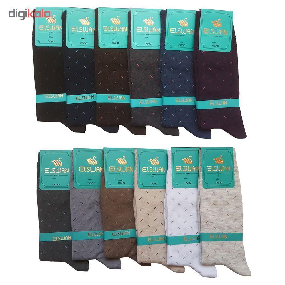 جوراب مردانه ال سون طرح برنابه او کد PH39 مجموعه 12 عددی main 1 1