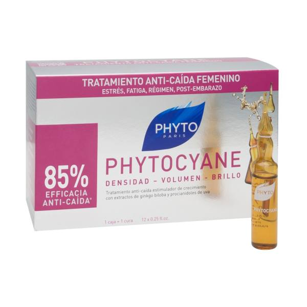 سرم تقویت کننده مو فیتو مدل phytocyane بسته 12 عددی