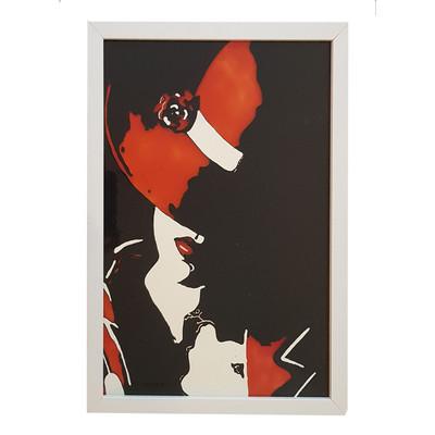 Photo of تابلوویترای  بهار طرح دختری با کلاه قرمز مدل 024