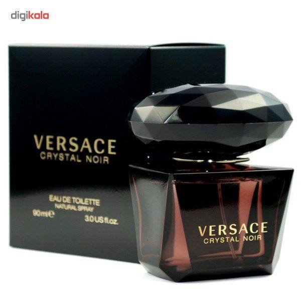 ادو تویلت زنانه ورساچه مدل Crystal Noir حجم 90 میلی لیتر  Versace Crystal Noir Eau De Toilette for W