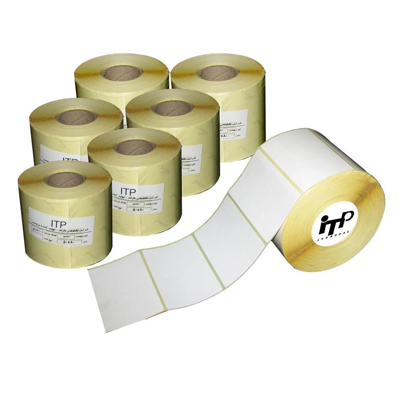 برچسب پرینتر لیبل زن آی تی پی مدل 1/ITP5080 کاغذی سفید 6 رول 1000 عددی