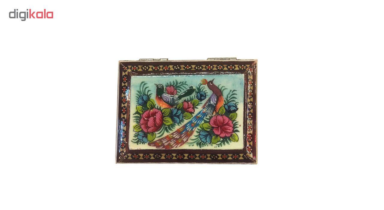 خرید                      جعبه خاتم لوح هنر طرح گل و پرنده کد 1029