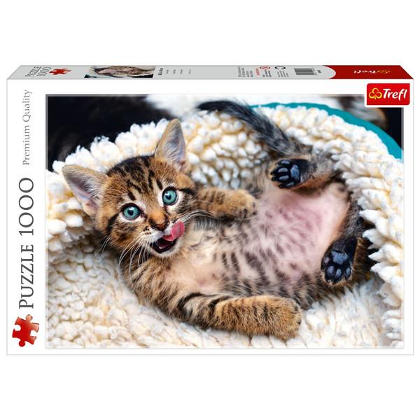 پازل 1000 تکه ترفل طرح بچه گربه ی شاد  برابر کیفیت ادوکا، ravensburger, Educa